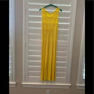 Bright yellow stretchy maxi dress.  Size L.  NWOT.